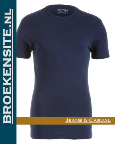 Garage Dames T-shirt Bodyfit ronde nek navy G 0701-NAVY Broekensite jeans casual