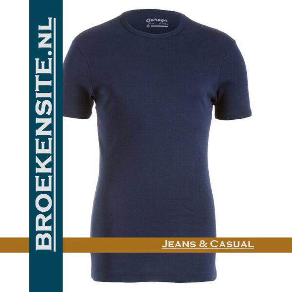 Garage Dames T-shirt Bodyfit ronde nek navy G 0701-NAVY Broekensite jeans casual