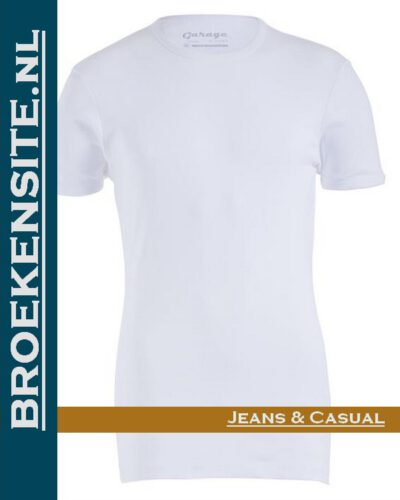 Garage Dames T-shirt Bodyfit ronde hals wit G 0701-WIT Broekensite jeans casual