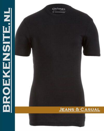 Garage Dames T-shirt Bodyfit ronde hals zwart G 0701-ZW Broekensite jeans casual