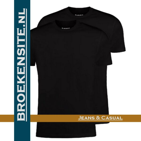 Garage T-shirt Classic Fit ronde hals zwart (2-pack) dubbel Broekensite jeans casual