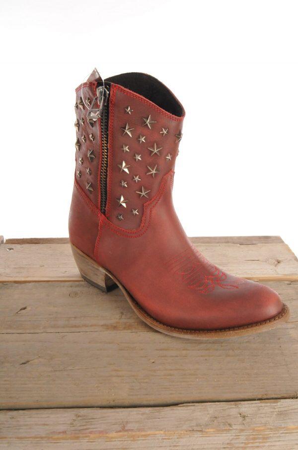 Sancho boots kort rood 10620 b