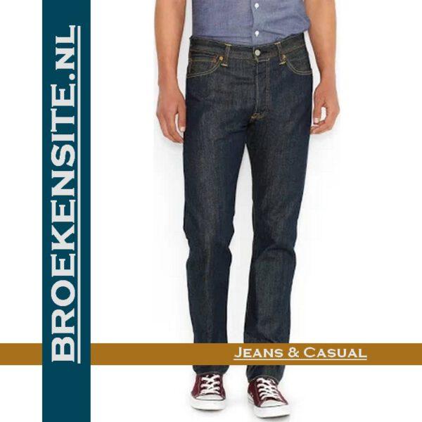 Levi 501 dark blue jeans spijkerbroek Broekensite met logo