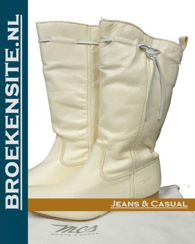 Marlboro Classics boots halfhoge laars wit XM0001 Z10 Broekensite jeans casual
