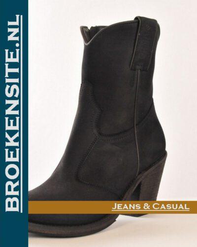 Sancho laars kort zwart 10150 Broekensite jeans casual
