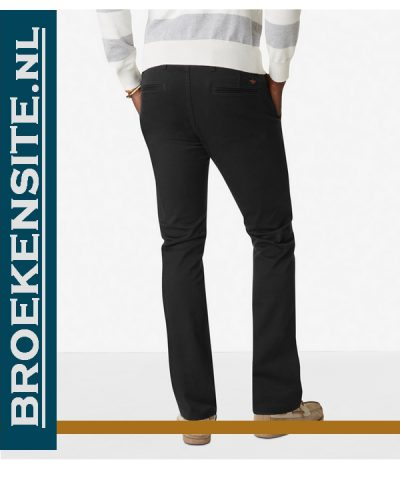 Broekensite Dockers Alpha Khaki Skinny - Zwart achterkant
