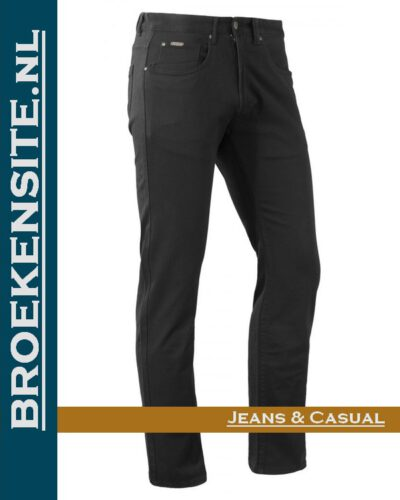 Brams Paris Hugo cotton twill black BP 1.3100-E14-900 Broekensite jeans casual