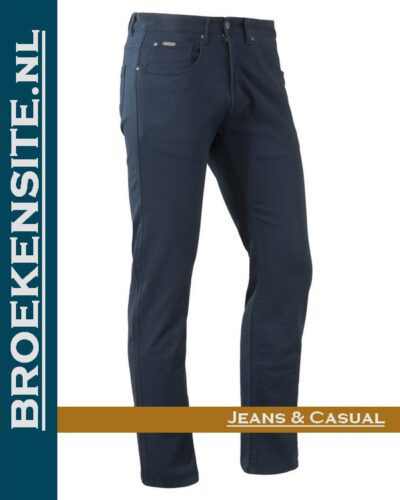 Brams Paris Hugo cotton twill navy BP 1.3100-E14-588 Broekensite jeans casual