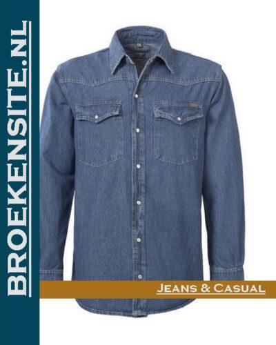 Brams Paris Brad overhemd BP 2.353-E54 Denim Broekensite.nl jeans en casual spijkerbroek spijkerblouse