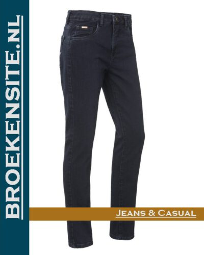Brams Paris Lily overdyed dark blue BP 1.4340-C24 Broekensite jeans casual