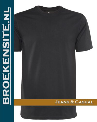 Brams Paris Shirts Max ronde hals zwart BP 6.3510-900 Broekensite jeans casual