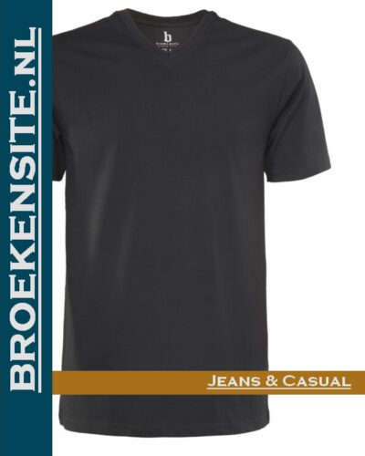 Brams Paris Shirts Tim V-hals zwart BP 6.3515-900 Broekensite jeans casual