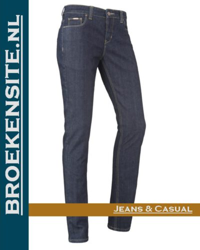Brams Paris Sophie rinsed washed dark BP 1.4700-X52 Broekensite jeans casual