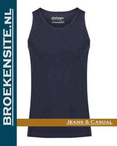 Garage Singlet Semi Bodyfit navy G 0401-NV Broekensite jeans casual