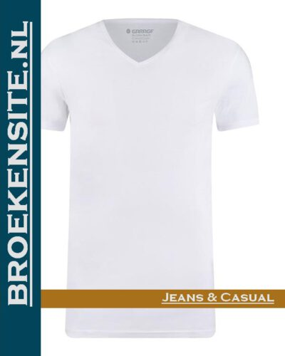 Garage T-shirt Bio-Cotton V-hals wit (2-pack) G 0222-WT Broekensite jeans casual