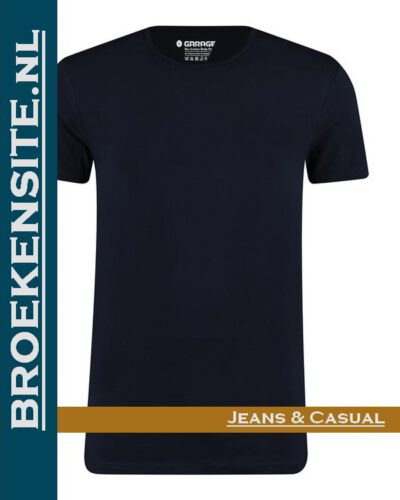 Garage T-shirt Bio-Cotton ronde hals navy (2-pack) G 0221-NV Broekensite jeans casual