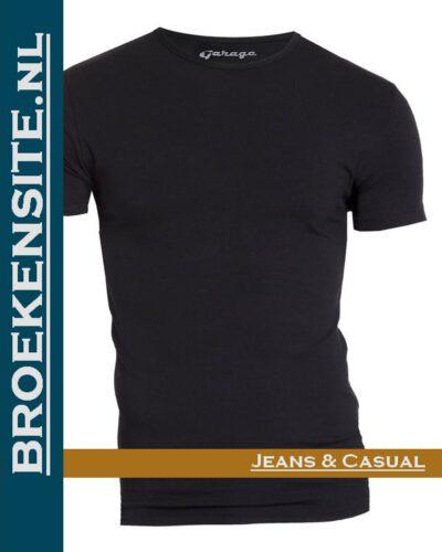 Garage T-shirt Bodyfit ronde hals zwart G 0201-ZW Broekensite jeans casual