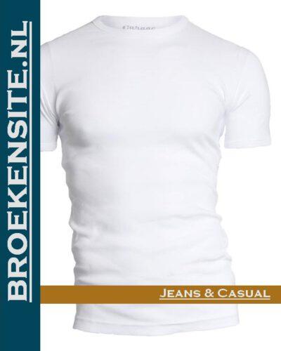 Garage T-shirt Semi Bodyfit ronde hals wit G 0301 -WT Broekensite jeans casual