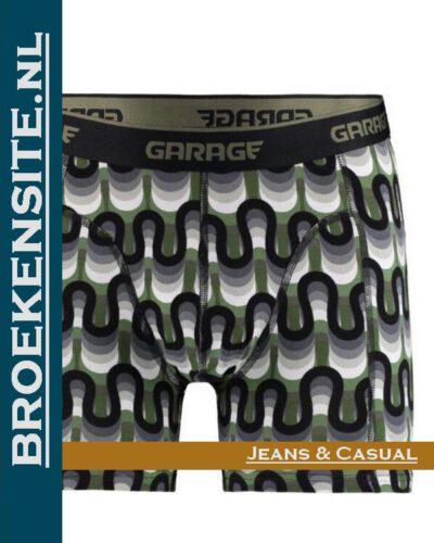 Garage boxershort Frisco green G 0802-FB strakke boxer Broekensite.nl jeans casual