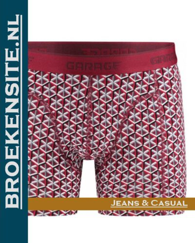 Garage boxershort Nevada red G 0802-NR Broekensite.nl jeans casual