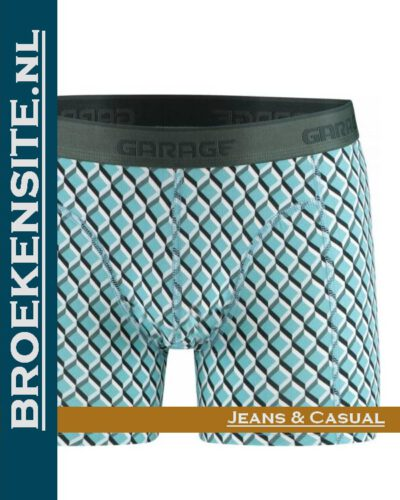 Garage boxershort Texas green G 0802-TG Broekensite.nl jeans casual