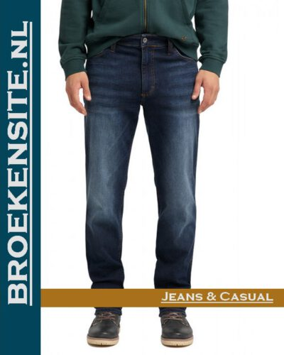 Mustang Tramper Tapered denim blue medium M 1004457 - 5000 883 Broekensite jeans casual