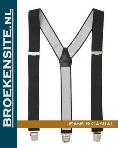 Bretels Luxe zwart TB Bretels-ZW Broekensite jeans casual