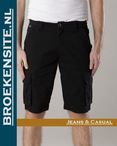 New Star Brisbane bermuda stretch black NS - 0204-BRISBANE-2-101 Broekensite jeans casual