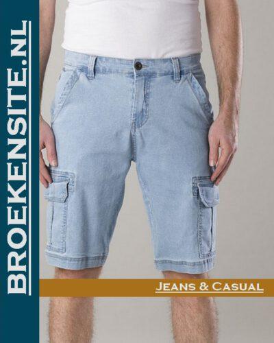New Star Brisbane bermuda stretch bleach NS - 0204-BRISBANE-DNM-23-37 Broekensite jeans casual