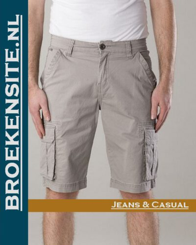 New Star Brisbane bermuda stretch grey NS - 0204-BRISBANE-2-104 Broekensite jeans casual