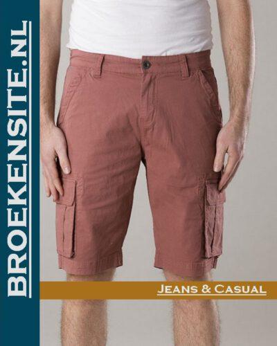 New Star Brisbane bermuda stretch red NS - 0204-BRISBANE-2-601 Broekensite jeans casual