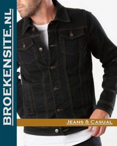 New Star Harvard Jack Blue Black spijkerjack NS-999-HARVARD-23-64 Broekensite jeans casual