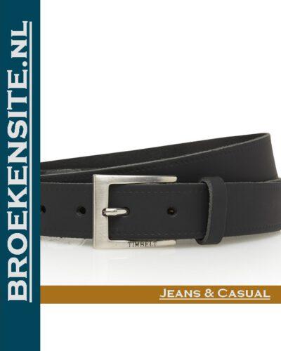 Riem Classic handgemaakt zwart TB 2130-ZW Broekensite jeans casual