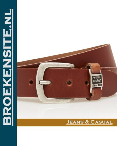 Riem Excellent handgemaakt cognac TB 460-CO Broekensite jeans casual