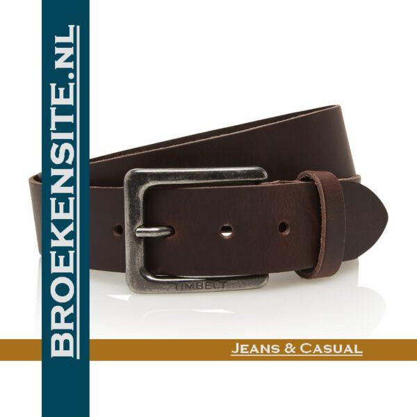 Riem Prestige handgemaakt bruin TB 421-BR Broekensite jeans casual