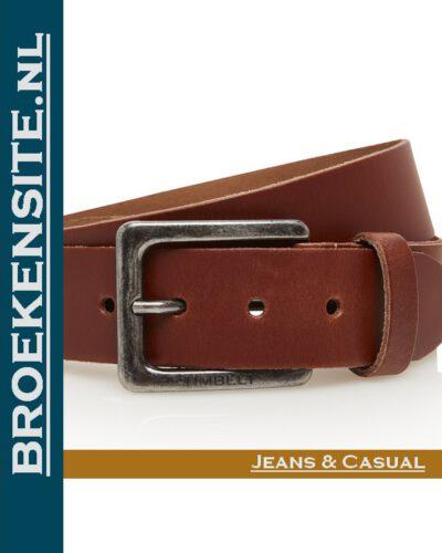 Riem Prestige handgemaakt cognac TB 421-CO Broekensite jeans casual