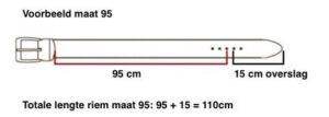 Riemmaat riem broekriem herenriem voorbeeld Broekensite.nl jeans en casual
