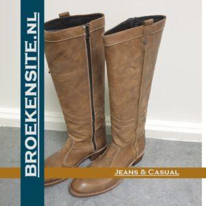 Sancho boots hoog bruin Broekensite jeans casual