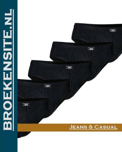 Bio-Cotton slip JBS mulit-color (5-pack) JDS 1140 - zwart Broekensite jeans en casual