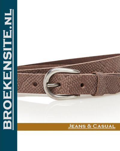 Riem Snake handgemaakt bruin TB 20437-BR Broekensite jeans casual